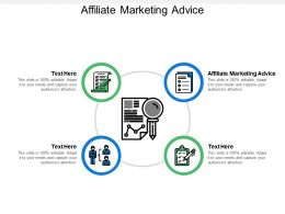 Affiliate Marketing Advice Ppt Powerpoint Presentation File Backgrounds Cpb