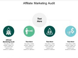 Affiliate Marketing Audit Ppt Powerpoint Presentation File Diagrams Cpb