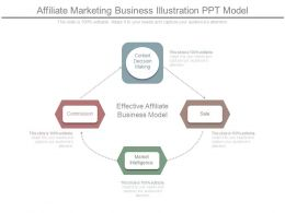 Affiliate Marketing Business Illustration Ppt Model