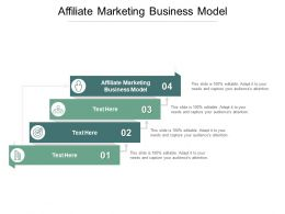 Affiliate Marketing Business Model Ppt Powerpoint Presentation Grid Cpb
