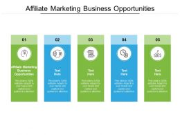 Affiliate Marketing Business Opportunities Ppt Presentation Styles Information Cpb
