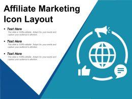 Affiliate Marketing Icon Layout