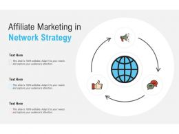 Affiliate Marketing In Network Strategy