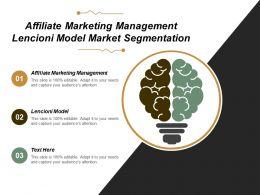 Affiliate Marketing Management Lencioni Model Market Segmentation Cpb