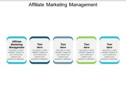 Affiliate Marketing Management Ppt Powerpoint Presentation Icon Vector Cpb