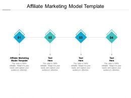 Affiliate Marketing Model Template Ppt Powerpoint Presentation Gallery Template