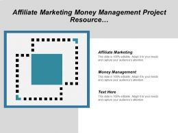 Affiliate Marketing Money Management Project Resource Management Plan Cpb