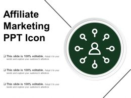 Affiliate Marketing Ppt Icon