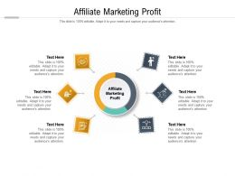 Affiliate Marketing Profit Ppt Powerpoint Presentation Professional Good Cpb