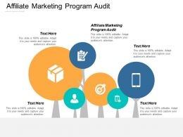 Affiliate Marketing Program Audit Ppt Powerpoint Presentation Show Outline Cpb