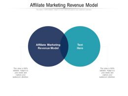 Affiliate Marketing Revenue Model Ppt Powerpoint Presentation Icon Picture Cpb