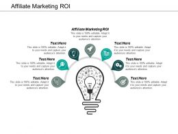 Affiliate Marketing Roi Ppt Powerpoint Presentation Styles Background Images Cpb