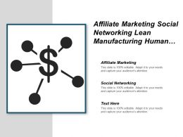 Affiliate Marketing Social Networking Lean Manufacturing Human Resources Development Cpb