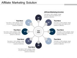 Affiliate Marketing Solution Ppt Powerpoint Presentation File Infographics Cpb