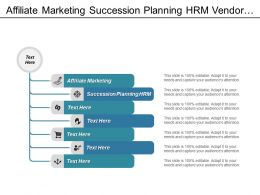Affiliate Marketing Succession Planning Hrm Vendor Management Business Plan Cpb