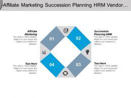 Affiliate Marketing Succession Planning Hrm Vendor Management Inventory Management Cpb
