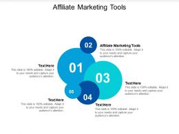 Affiliate Marketing Tools Ppt Powerpoint Presentation Icon Elements Cpb