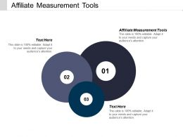Affiliate Measurement Tools Ppt Powerpoint Presentation File Layouts Cpb