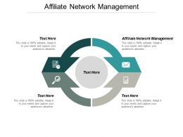 Affiliate Network Management Ppt Powerpoint Presentation Gallery Samples Cpb