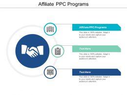 Affiliate PPC Programs Ppt Powerpoint Presentation File Diagrams Cpb