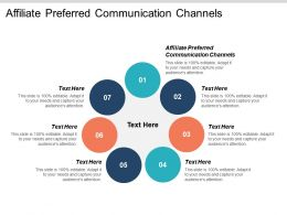 Affiliate Preferred Communication Channels Ppt Powerpoint Presentation File Icon Cpb