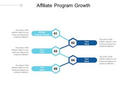 Affiliate Program Growth Ppt Powerpoint Presentation Inspiration Professional Cpb