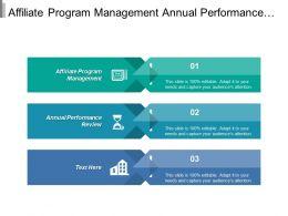 Affiliate Program Management Annual Performance Review Change Management Cpb