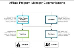 Affiliate Program Manager Communications Ppt Powerpoint Presentation Ideas Diagrams Cpb