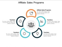Affiliate Sales Programs Ppt Powerpoint Presentation Slides Model Cpb