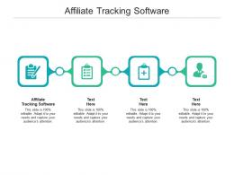 Affiliate Tracking Software Ppt Powerpoint Presentation Portfolio Background Image Cpb