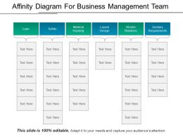 Affinity Diagram For Business Management Team Ppt Background Images