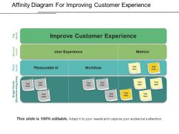 Affinity Diagram For Improving Customer Experience Ppt Example