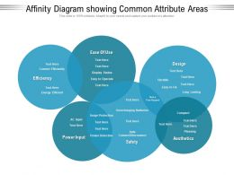 Affinity Diagram Showing Common Attribute Areas