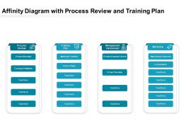 Affinity Diagram With Process Review And Training Plan