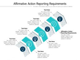 Affirmative Action Reporting Requirements Ppt Powerpoint Presentation Icon Graphic Tips Cpb