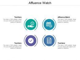 Affluence Watch Ppt Powerpoint Presentation Gallery Summary Cpb