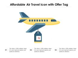 Affordable Air Travel Icon With Offer Tag