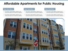 Affordable Apartments For Public Housing