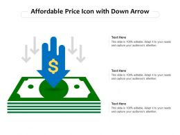 Affordable Price Icon With Down Arrow