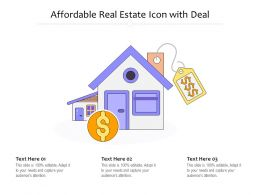 Affordable Real Estate Icon With Deal