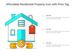 Affordable Residential Property Icon With Price Tag