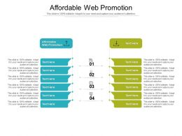 Affordable Web Promotion Ppt Powerpoint Presentation Summary Layout Ideas Cpb
