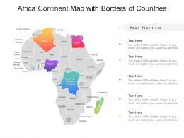 Africa Continent Map With Borders Of Countries