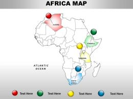 Africa Continents Powerpoint Map 1114