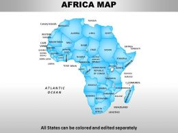 Africa Continents PowerPoint maps