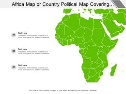 Africa Map Or Country Political Map Covering All Different Regions
