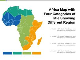 Africa Map With Four Categories Of Title Showing Different Region