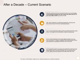After A Decade Current Scenario A Decade Ago Ppt Powerpoint Presentation Infographics Slides