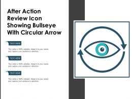 After Action Review Icon Showing Bullseye With Circular Arrow