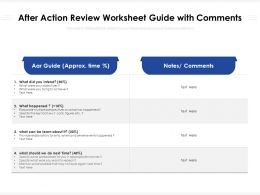 After Action Review Worksheet Guide With Comments
